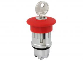 NOT-AUS Taster Einsatz mit Rückstellung (Schlüssel) rot TB4 BS14 NOT-AUS Taster Einsatz mit Rückstellung (Schlüssel) rot TB4 BS14