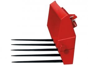 Klinkfrontladergabel Kat 2 mit 5 Zinken 800mm (800mm Zinkenlänge) Klinkfrontladergabel Kat 2 mit 5 Zinken 800mm (800mm Zinkenlänge)