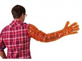 Einmalhandschuhe VETbasic 90cm, orange, 100 Stück Einmalhandschuhe VETbasic 90cm, orange, 100 Stück