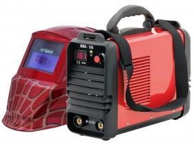 Inverter Schweißgerät mit Automatik Schweißhelm Spider Rot Inverter Schweißgerät mit Automatik Schweißhelm Spider Rot