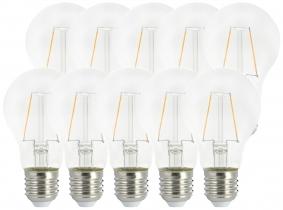 10x AdLuminis LED Bulb klar E27 2,5W 250 Lumen 2.000K 10x AdLuminis LED Bulb klar E27 2,5W 250 Lumen 2.000K