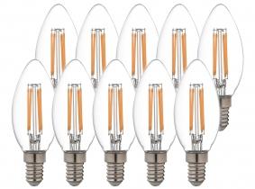 10x AdLuminis LED Candle klar E14 4,5W 470 Lumen 2.700K 10x AdLuminis LED Candle klar E14 4,5W 470 Lumen 2.700K