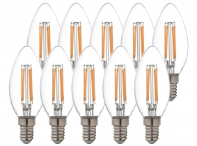 10x AdLuminis LED Candle klar E14 4,5W 470 Lumen 4.000K 10x AdLuminis LED Candle klar E14 4,5W 470 Lumen 4.000K