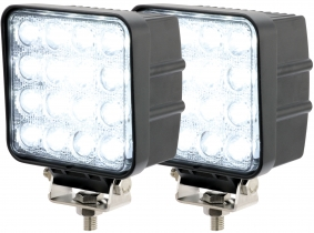 2x Phare de travail LED 2.880 Lumens 48 Watts 30° 10-30 Volts AdLuminis 2x Phare de travail LED 2.880 Lumens 48 Watts 30° 10-30 Volts AdLuminis