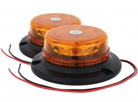 2x Gyrophare LED orange fixation 3 points extra plat AdLuminis 2x Gyrophare LED orange fixation 3 points extra plat AdLuminis