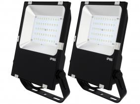 2x Projecteur LED Philips plat 50W 6.500lm PCCooler AdLuminis 2x Projecteur LED Philips plat 50W 6.500lm PCCooler AdLuminis