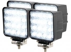 4x Phare de travail LED 2.880 Lumens 48 Watts 60° 10-30 Volts AdLuminis 4x Phare de travail LED 2.880 Lumens 48 Watts 60° 10-30 Volts AdLuminis