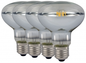 4x AdLuminis LED-Filament Reflector R80 klar E27 8W 4x AdLuminis LED-Filament Reflector R80 klar E27 8W