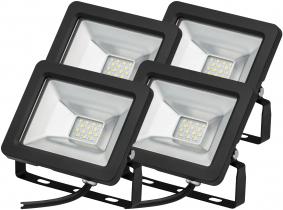 4x Projecteur LED plat 10 Watts 850 Lumens AdLuminis 4x Projecteur LED plat 10 Watts 850 Lumens AdLuminis