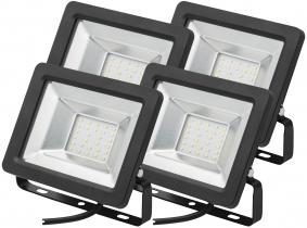 4x Projecteur LED plat 20 Watts 1.700 Lumens AdLuminis 4x Projecteur LED plat 20 Watts 1.700 Lumens AdLuminis