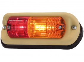 OLDTIMER Brems-Blink-Leuchte für Schrägeinbau links, 155x65mm OLDTIMER Brems-Blink-Leuchte für Schrägeinbau links, 155x65mm