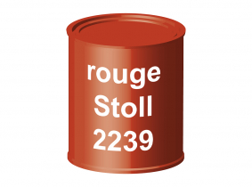 Peinture laque pour tracteur Stoll rouge 2239 ERBEDOL, pot de 750 ml Peinture laque pour tracteur Stoll rouge 2239 ERBEDOL, pot de 750 ml