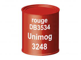 Peinture laque pour tracteur Unimog DB3534 rouge 3248 ERBEDOL, pot de 750 ml Peinture laque pour tracteur Unimog DB3534 rouge 3248 ERBEDOL, pot de 750 ml