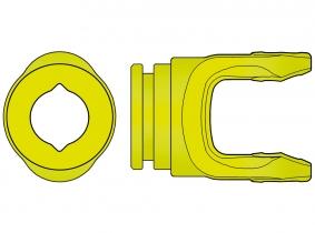 AW10-Profilgabel 10.48.00 für 23,5mm Zitronen-Innenprofil AW10-Profilgabel 10.48.00 für 23,5mm Zitronen-Innenprofil