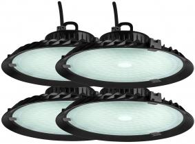 4x Cloche LED UFO high bay 100W 9.500lm suspension industrielle AdLuminis 4x Cloche LED UFO high bay 100W 9.500lm suspension industrielle AdLuminis