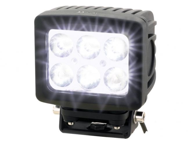 3600 Lumen Scheinwerfer aus Aluminium Arbeitsscheinwerfer mit 16 LED eckig