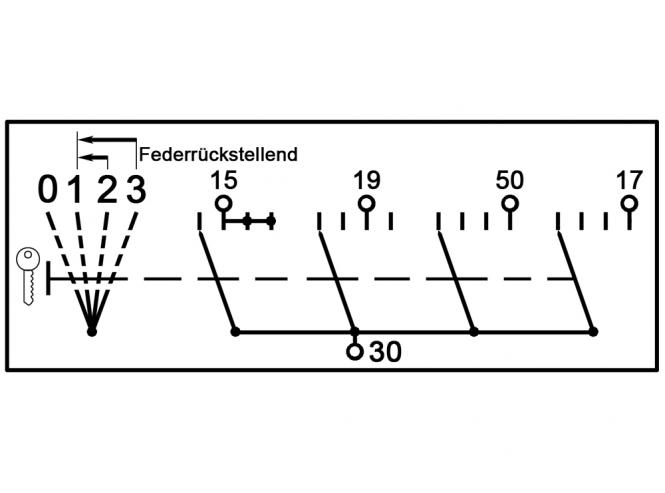 Fk Sohnchen Cobo Starterschalter 4 Positionen Mit Vorgluhstellung
