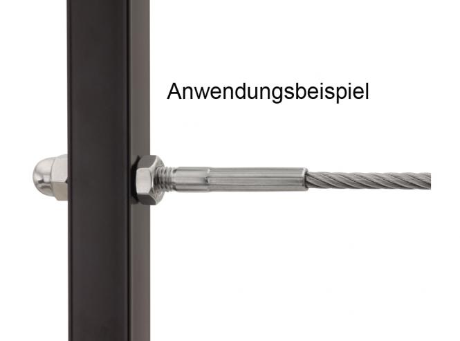 FK Söhnchen* | Pressfitting für VA-Seil 3mm / Außen-Rechtsgewinde M6 ...