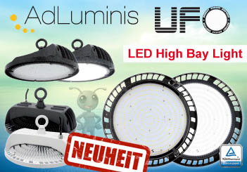 AdLuminis LED Hallenstrahler 180W UFO High Bay