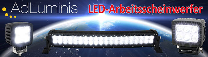 LED Arbeitsscheinwerfer & LED Light Bars
